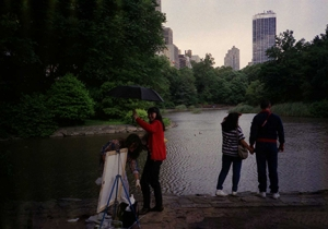 Girl with Umbrella, Central Park, August